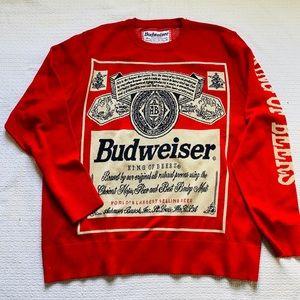 Budweiser Men's Red Sweater